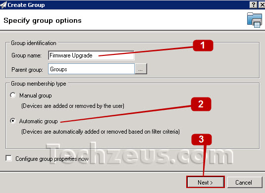 How to create an Auto Group in Web Jetadmin? | techzeus com
